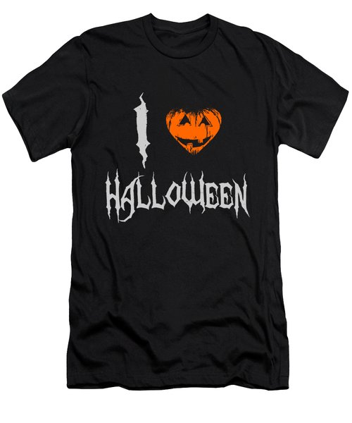 Men's T-Shirt (Athletic Fit) featuring the digital art I Love Halloween by Flippin Sweet Gear