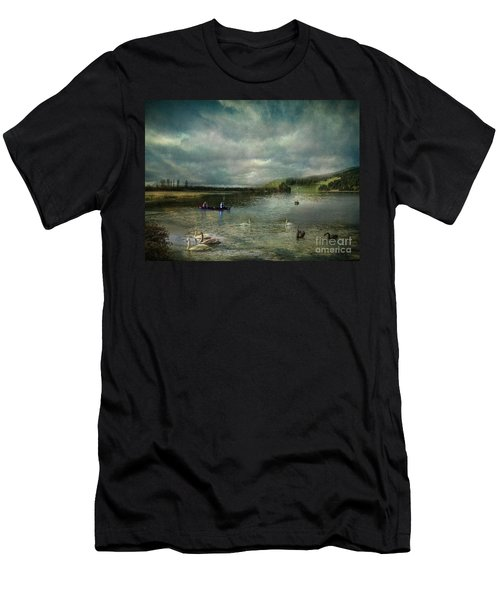 Idyllic Swans Lake Men's T-Shirt (Athletic Fit)