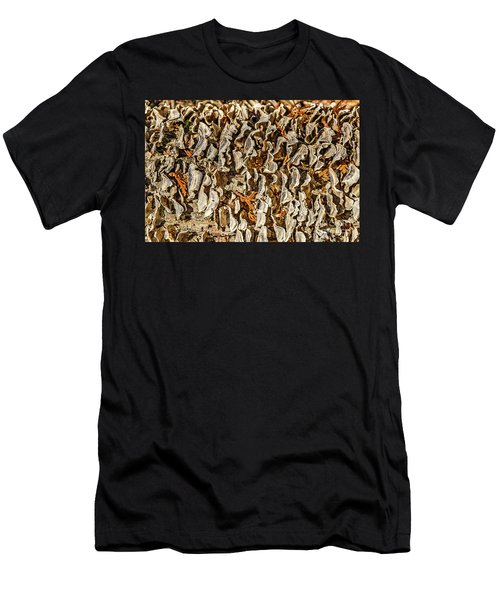 Turkey Tailed Bracket Fungi Men's T-Shirt (Athletic Fit)
