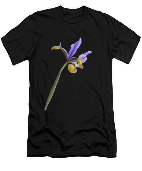 Iris On A Transparent Background Men's T-Shirt (Athletic Fit)