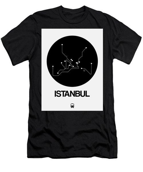 Istanbul Black Subway Map Men's T-Shirt (Athletic Fit)