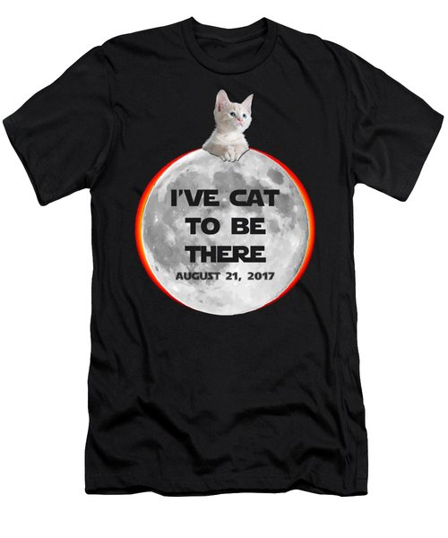 Ive Cat To Be There Solar Eclipse 2017 Men's T-Shirt (Athletic Fit)