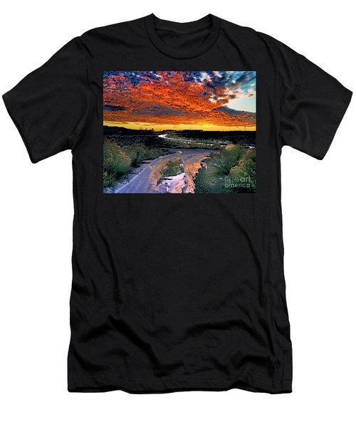 January Sunset Men's T-Shirt (Athletic Fit)