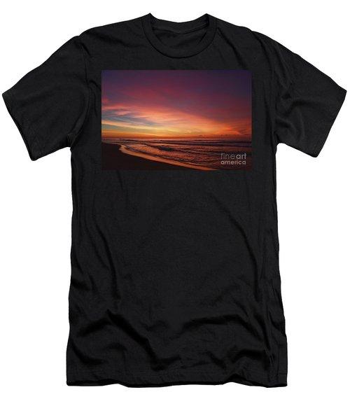 Jersey Shore Sunrise Men's T-Shirt (Athletic Fit)
