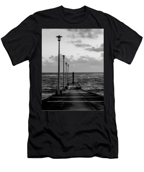 Men's T-Shirt (Athletic Fit) featuring the photograph Jetty by Stuart Manning
