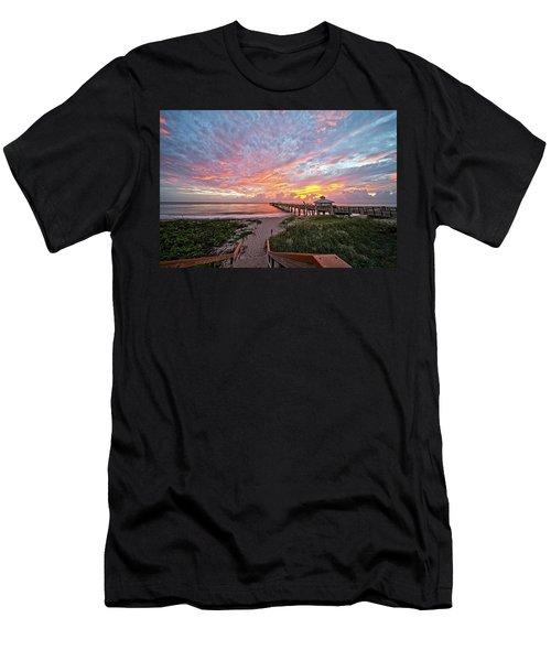 Juno Beach Pier Men's T-Shirt (Athletic Fit)