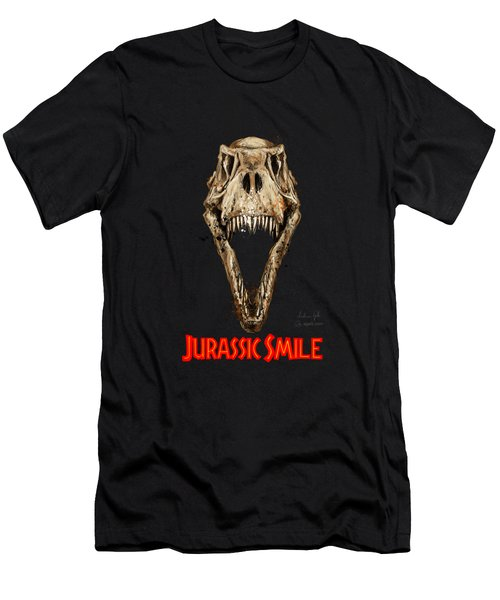 Jurassick Smile Red Men's T-Shirt (Athletic Fit)