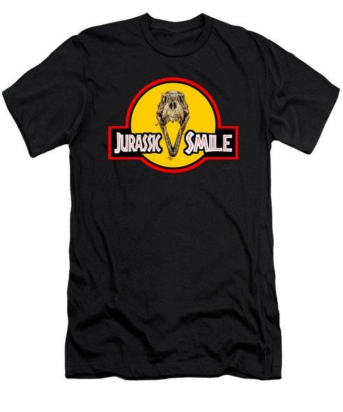 Jurassick Smile Skull Men's T-Shirt (Athletic Fit)