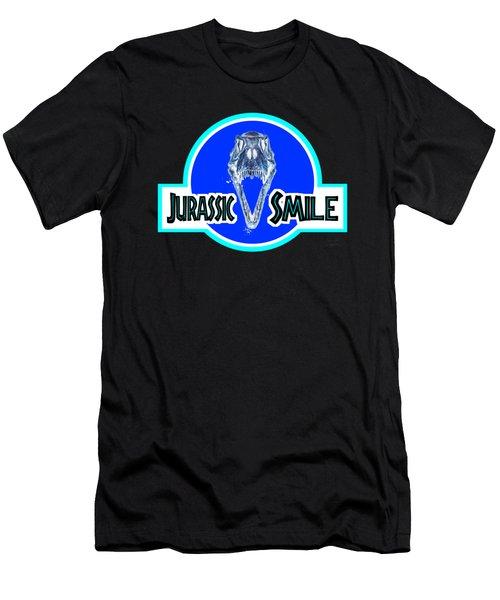 Jurassick Smile Skull Inv Men's T-Shirt (Athletic Fit)