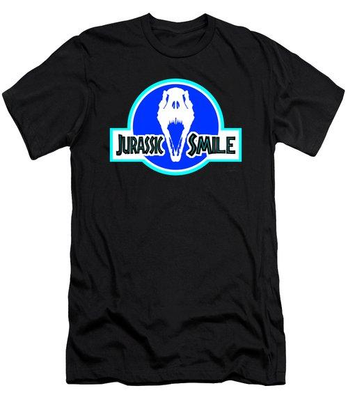 Jurassick Smile Skull Logo Inv Men's T-Shirt (Athletic Fit)