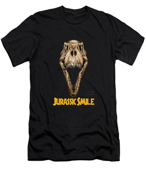 Jurassick Smile Yellow Men's T-Shirt (Athletic Fit)