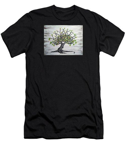 Kayaker Love Tree Art Men's T-Shirt (Athletic Fit)