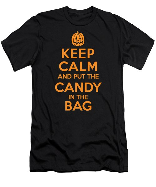 Keep Calm And Put The Halloween Candy In The Bag Men's T-Shirt (Athletic Fit)