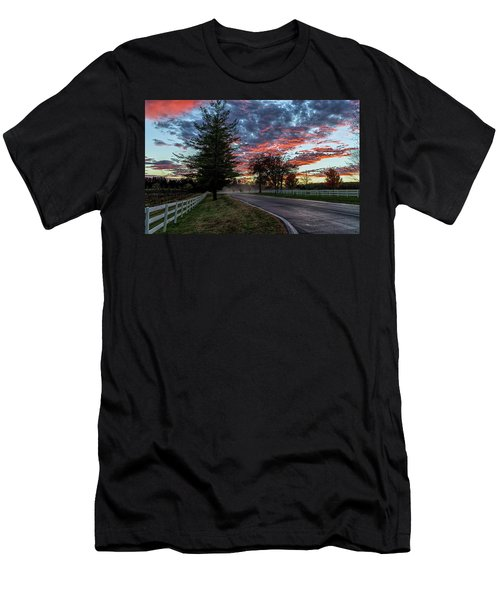 Men's T-Shirt (Athletic Fit) featuring the photograph Keswick Sunset by Lori Coleman