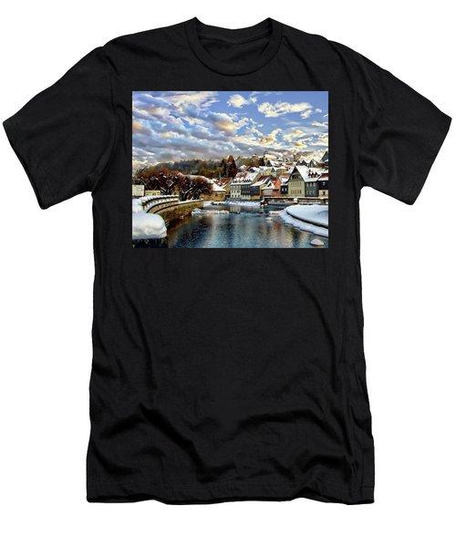 Kronach Winter Scene Men's T-Shirt (Athletic Fit)