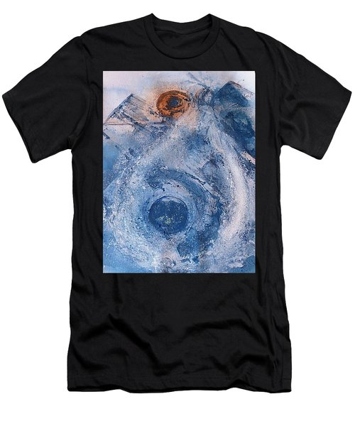 Men's T-Shirt (Athletic Fit) featuring the painting  La Donna Del Lago by 'REA' Gallery