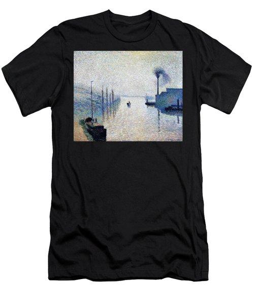 Lacroix Island, Rouen  - Digital Remastered Edition Men's T-Shirt (Athletic Fit)