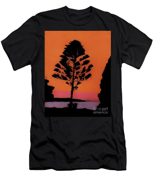 Lake Sunset Men's T-Shirt (Athletic Fit)