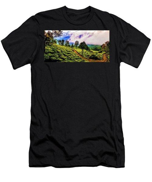 Green Landscape Men's T-Shirt (Athletic Fit)