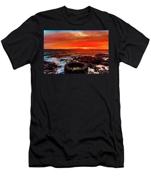 Lava Bath After Sunset Men's T-Shirt (Athletic Fit)