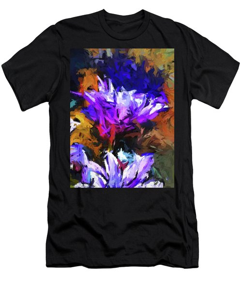 Lavender Flower And The Cobalt Blue Reflection Men's T-Shirt (Athletic Fit)