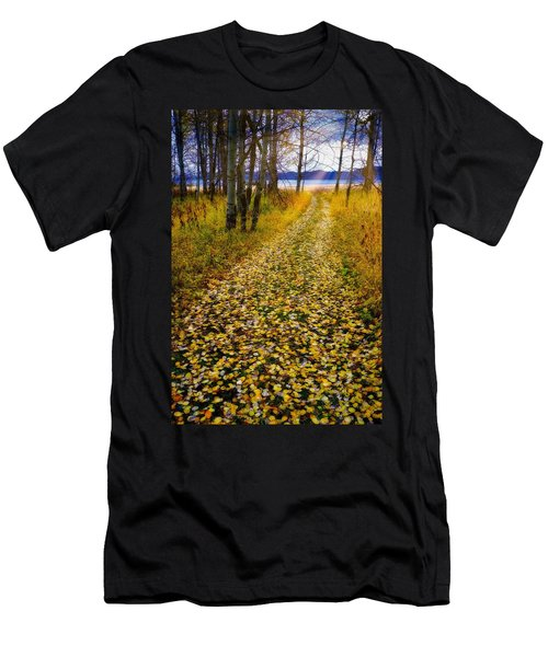 Leaves On Trail Men's T-Shirt (Athletic Fit)