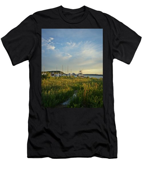 Leland Harbor At Sunset Men's T-Shirt (Athletic Fit)