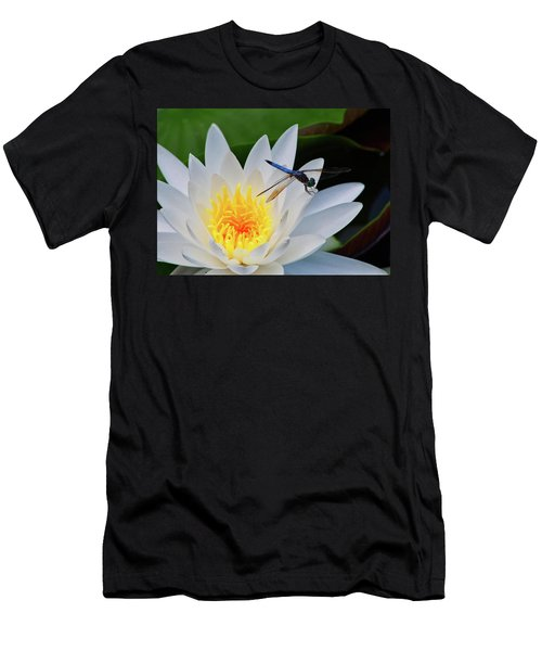 Lily And Dragonfly Men's T-Shirt (Athletic Fit)