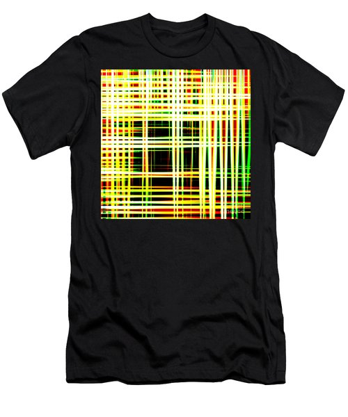 Lines And Squares In Color Waves - Plb418 Men's T-Shirt (Athletic Fit)