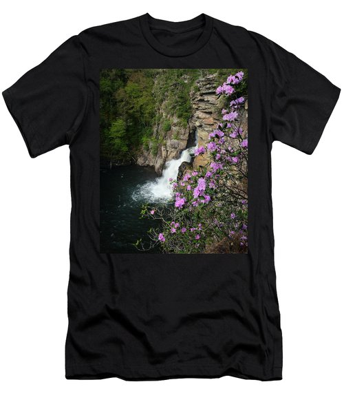 Linville Falls Carolina Rhododendron Men's T-Shirt (Athletic Fit)