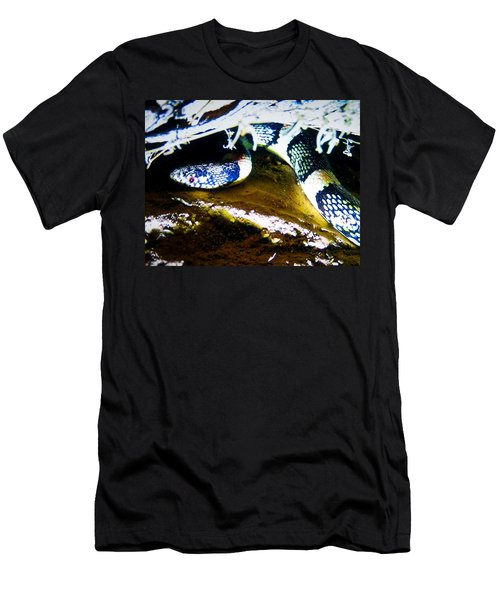 Men's T-Shirt (Athletic Fit) featuring the photograph Longnosed Snake In The Desert by Judy Kennedy