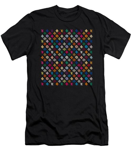 Louis Vuitton Monogram-4 Men's T-Shirt (Athletic Fit)
