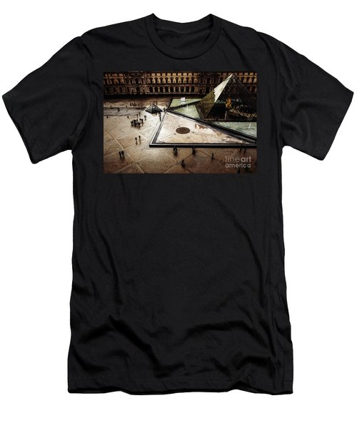 Men's T-Shirt (Athletic Fit) featuring the photograph Louvre by Miles Whittingham