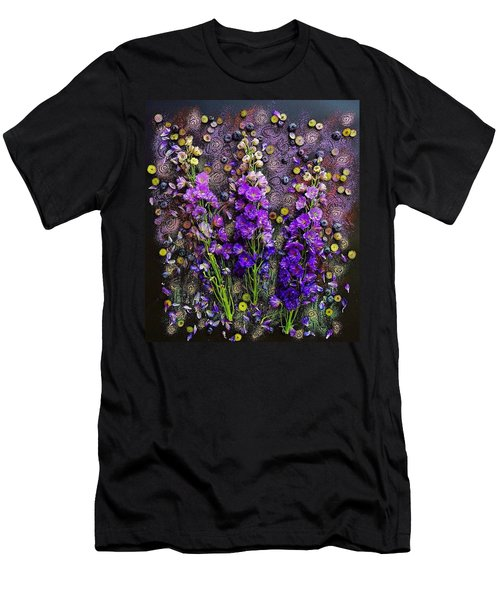 Lupine And Blueberries  Men's T-Shirt (Athletic Fit)