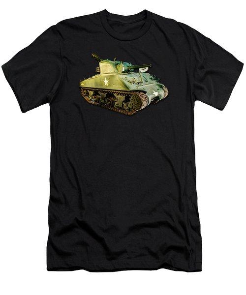 M4 Sherman Tank 2 Canvas Men's T-Shirt (Athletic Fit)