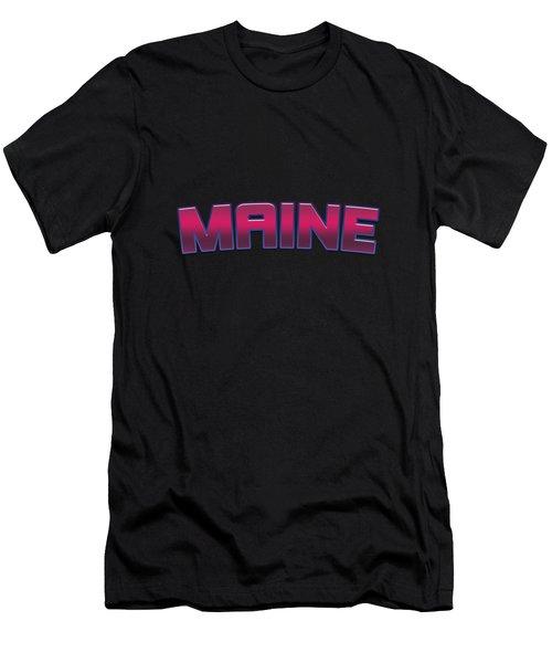 Maine #maine Men's T-Shirt (Athletic Fit)