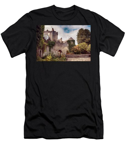 Men's T-Shirt (Athletic Fit) featuring the photograph Malahide Castle By Autumn  by Ariadna De Raadt