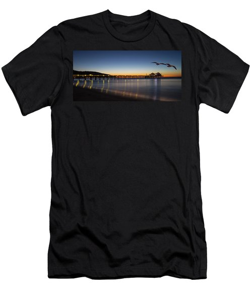 Malibu Pier At Sunrise Men's T-Shirt (Athletic Fit)