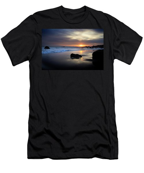 Men's T-Shirt (Athletic Fit) featuring the photograph Malibu Sunset by John Rodrigues