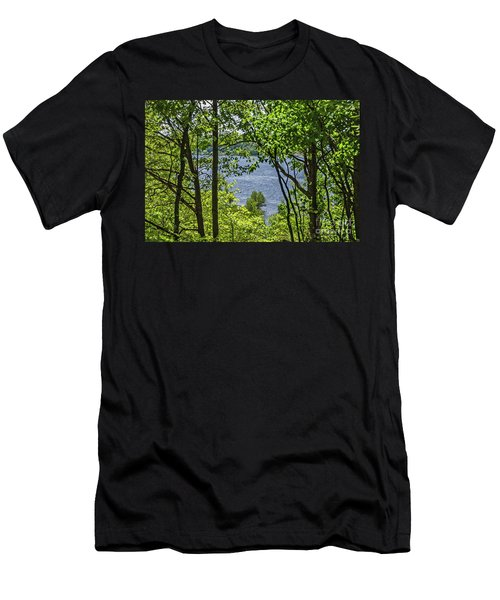 Manistee Lake Through The Trees Men's T-Shirt (Athletic Fit)