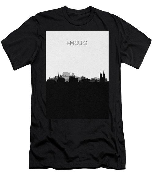 Marburg Cityscape Art Men's T-Shirt (Athletic Fit)
