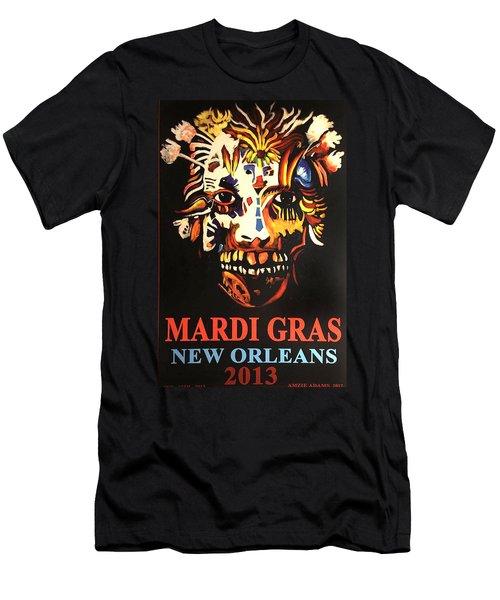 Mardi Gras Spirit 2013 Men's T-Shirt (Athletic Fit)