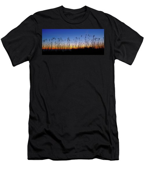 Marsh Grass Silhouette  Men's T-Shirt (Athletic Fit)