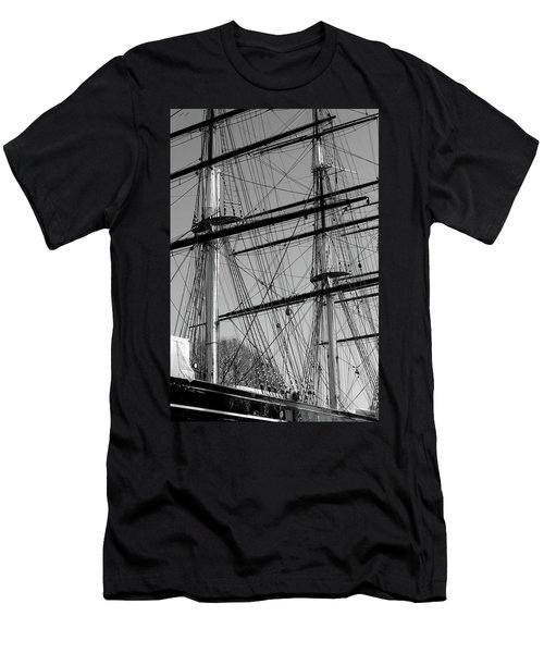 Men's T-Shirt (Athletic Fit) featuring the photograph Masts And Rigging Of The Cutty Sark by Aidan Moran