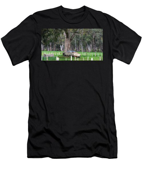 Men's T-Shirt (Athletic Fit) featuring the photograph Memories Of The Farm by Joan Stratton