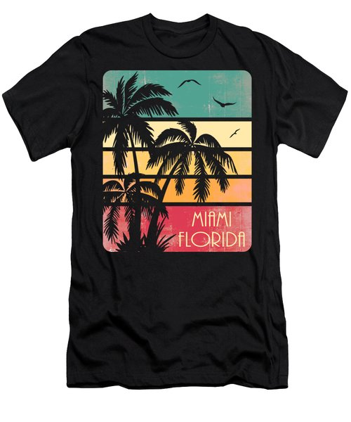 Miami Florida Vintage Summer Men's T-Shirt (Athletic Fit)