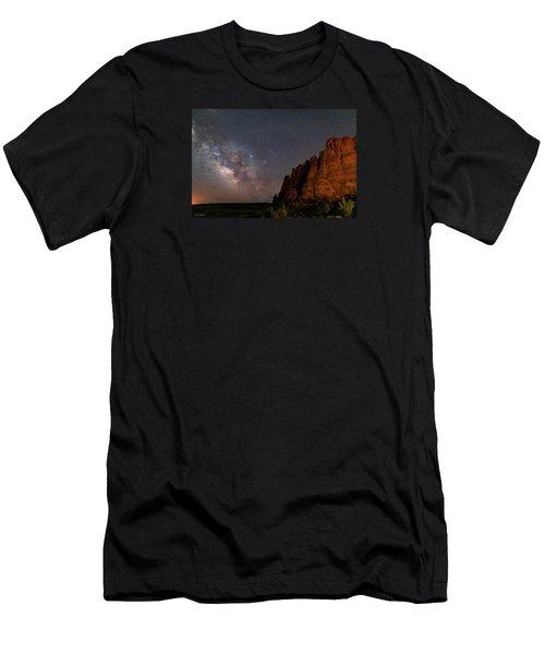 Milky Way At Navajo Rocks 2 Men's T-Shirt (Athletic Fit)