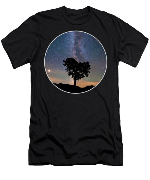 Milky Way Heart Tree Circle Men's T-Shirt (Athletic Fit)