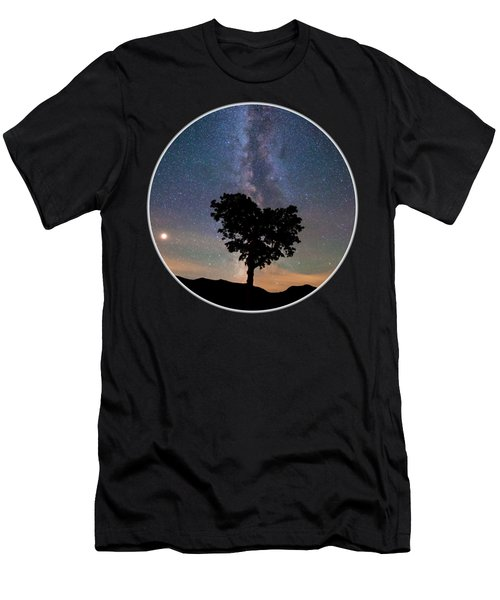 Milky Way Heart Tree Circle Men's T-Shirt (Athletic Fit)