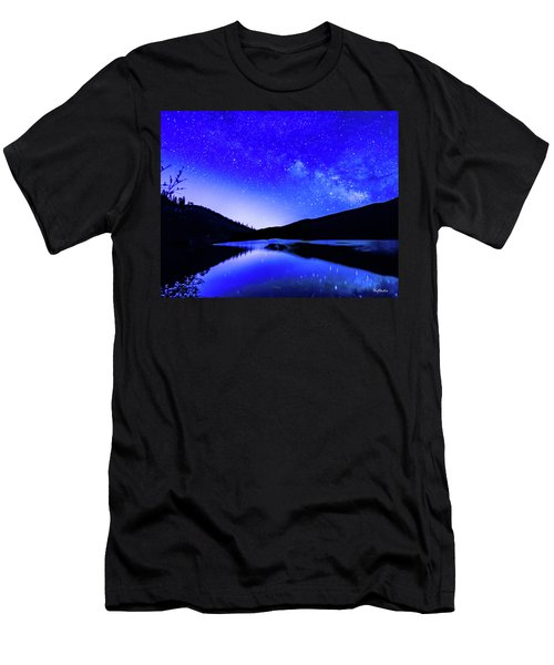 Milky Way Over Springtime Echo Lake Men's T-Shirt (Athletic Fit)
